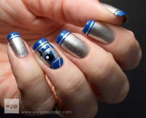 unhas R2D2 inspired star wars