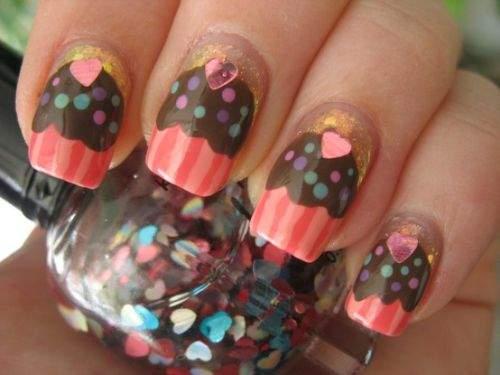 unhas-cupcakes