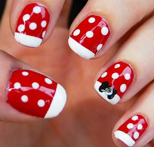 Unhas Minnie Mouse 003