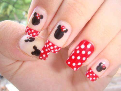 Unhas Minnie Mouse 004
