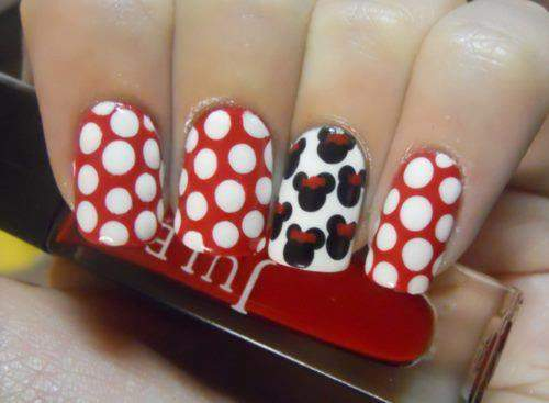 Unhas Minnie Mouse 005