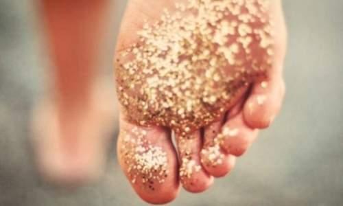 Rachaduras nos pés - farinha de arroz