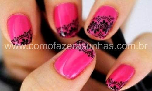 unhas decoradas com renda - carimbo 03