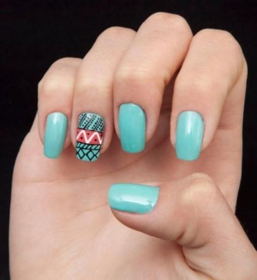 Unhas decoradas com canetas nail art - imagem 01 - OK