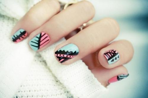 Unhas decoradas com canetas nail art - imagem 09 - OK