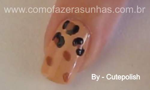 Unhas leopardo - passo a passo - 33