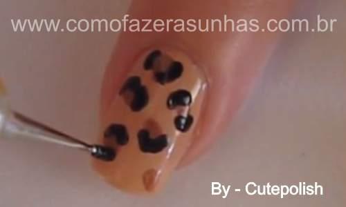 Unhas leopardo - passo a passo - 35