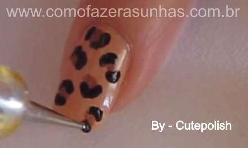 Unhas leopardo - passo a passo - 36