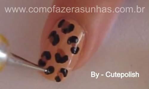 Unhas leopardo - passo a passo 37