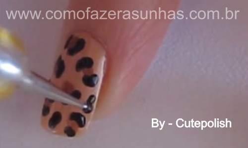 Unhas leopardo - passo a passo 39
