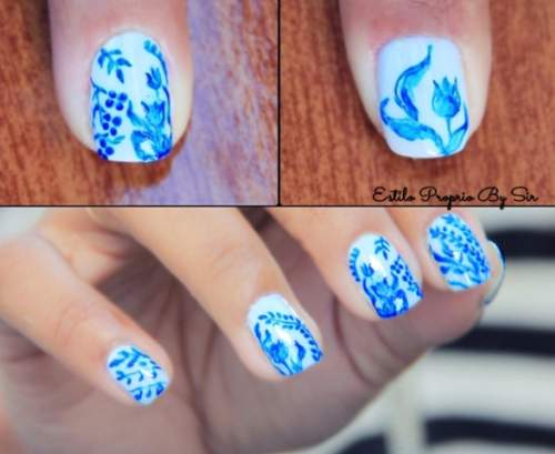 Unhas decoradas com azulejo português - by estilo proprio sir