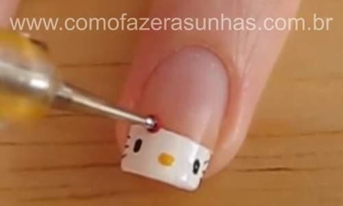 Unhas hello kitty - 06