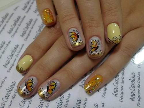Fotos de unhas decoradas - borboletas - borboletas - 03