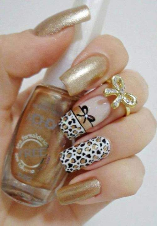 Fotos de unhas decoradas - unhas oncinhas - 06
