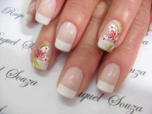 unhas decoradas com rosas - 09