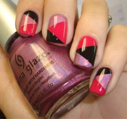 Fotos de unhas decoradas - unhas geometricas - 01