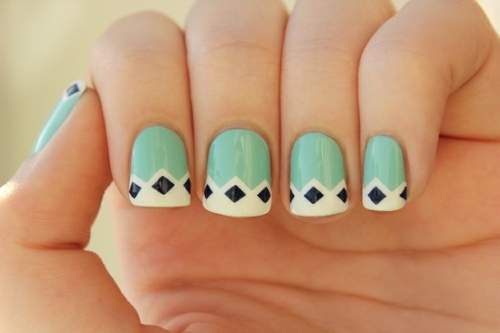 Fotos de unhas decoradas - unhas geometricas - 02