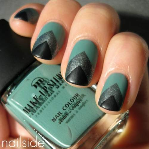 Fotos de unhas decoradas - unhas geometricas - 03