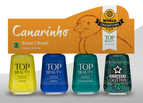 Esmalte para Copa do Mundo 2014 - Kit Brasil - Coleção World Champions of All Time - Top Beauty