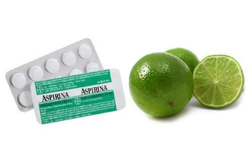 Remédios caseiros para tratar calos nas mãos e nos pés - aspirina e limão