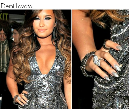Como escolher o formato das unhas  - Demi Lovato 01