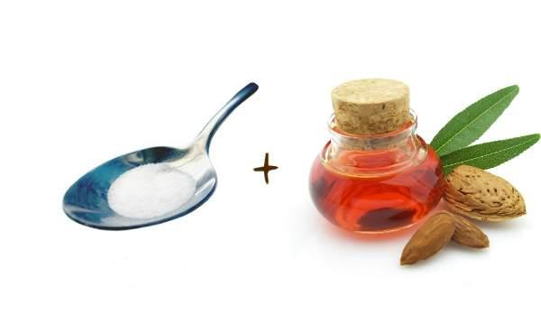 Como fazer um creme esfoliante para os pés - açúcar + óleo de amêndoas