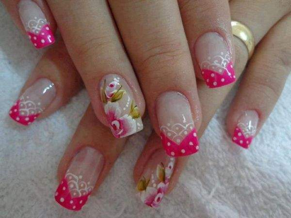 Fotos de unhas decoradas com flores - 01