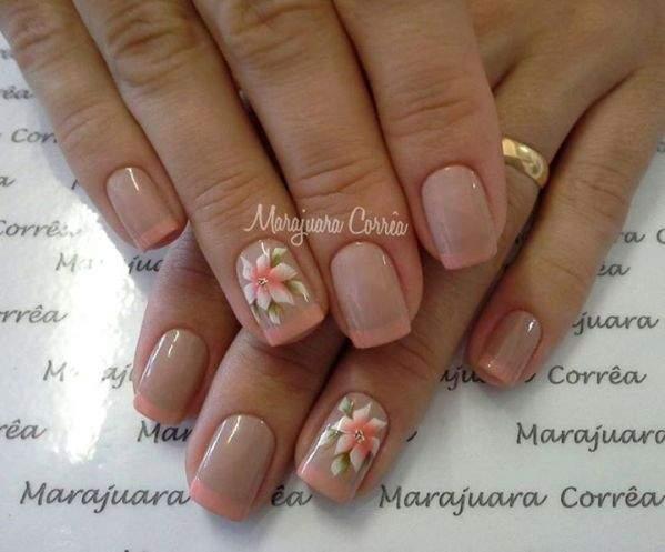 unhas decoradas com flores - 02