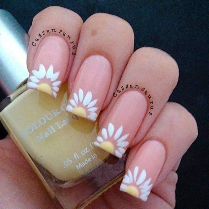 Como fazer unhas com flores - Passo a Passo 13