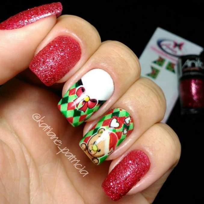 Unhas Decoradas Natal 25