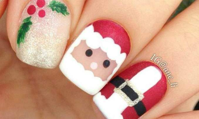 Unhas Decoradas Natal 2015 100 Fotos